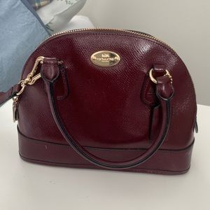 COACH maroon crossbody bag